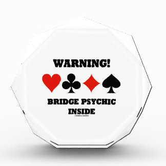 Warning! Bridge Psychic Inside (Four Card Suits) Awards