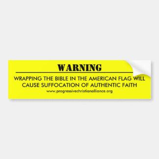 """Warning"" Bumper Sticker Car Bumper Sticker"
