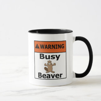 Warning Busy Beaver Mug