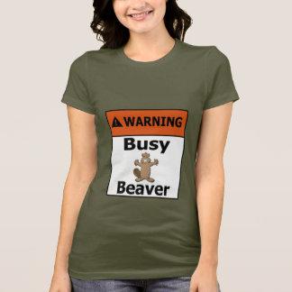 Warning Busy Beaver T-Shirt