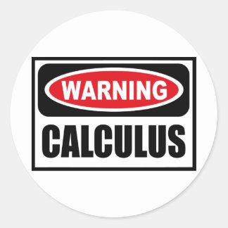 Warning CALCULUS Sticker