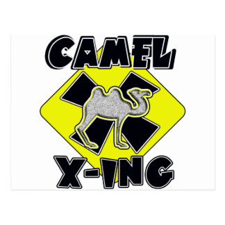 WARNING CAMEL CROSSING X-ING GIFTS FUNNY ZOO POSTCARD