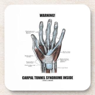 Warning! Carpal Tunnel Syndrome Inside (Anatomy) Coaster