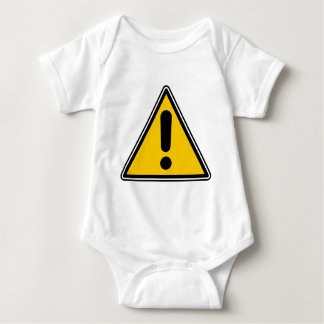 Warning! Caution! Symbol - add your own text! Baby Bodysuit