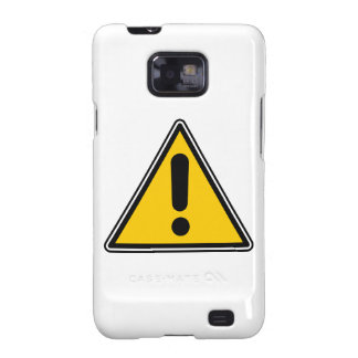 Warning! Caution! Symbol - add your own text! Samsung Galaxy S2 Case
