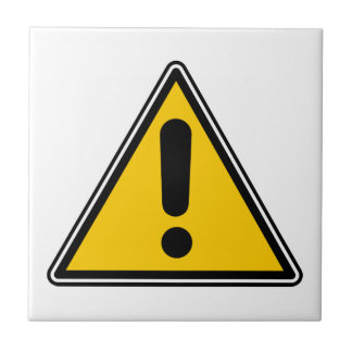 Warning! Caution! Symbol - add your own text! Tile