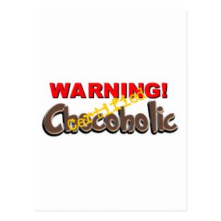 Warning Certified Chocoholic Postcard