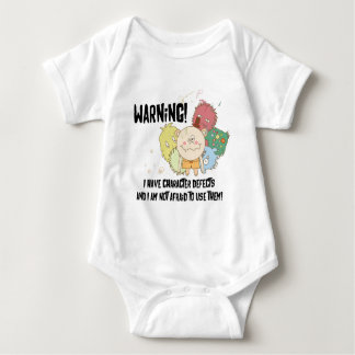 Warning Character Defects Baby Bodysuit
