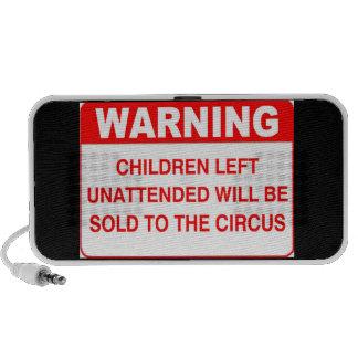 WARNING - Children Left Unattended... Mp3 Speakers