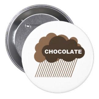Warning: Chocolate Rain 3 Inch Round Button