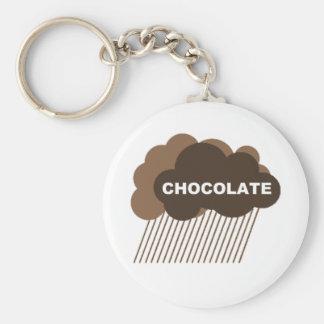 Warning: Chocolate Rain Basic Round Button Keychain