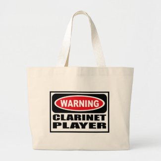 Warning CLARINET PLAYER Bag bag