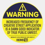 Warning Classic Round Sticker