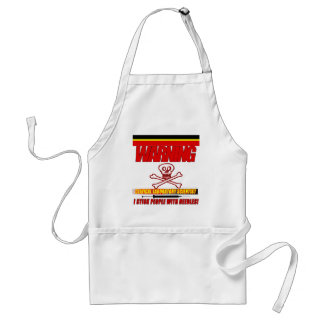 WARNING CLINICAL LAB SCIENTIST STICK  WITH NEEDLES ADULT APRON