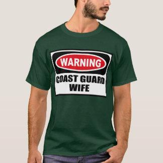 Warning COAST GUARD WIFE Men's Dark T-Shirt
