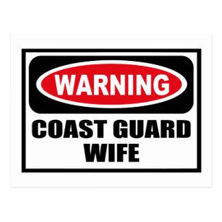 Warning COAST GUARD WIFE Postcard