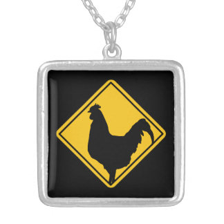 Warning: Cocky! Silver Plated Necklace