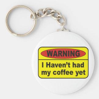Warning - coffee keychain