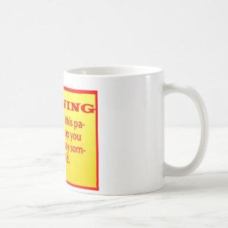 warning coffee mug