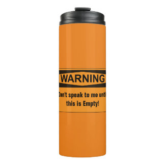 Warning Coffee Thermal Travel Mug Thermal Tumbler