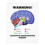 Warning! Cognitive Intervention Needed Letterhead Design