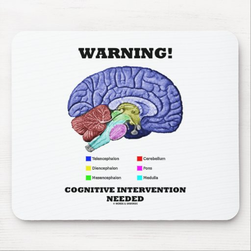 Warning! Cognitive Intervention Needed Mousepads