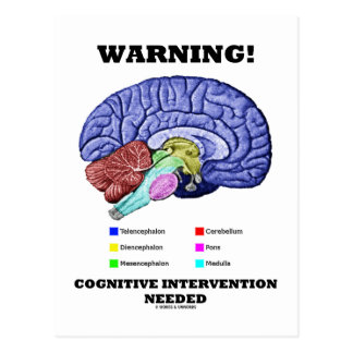 Warning! Cognitive Intervention Needed Postcards