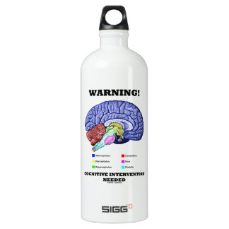 Warning! Cognitive Intervention Needed SIGG Traveler 1.0L Water Bottle