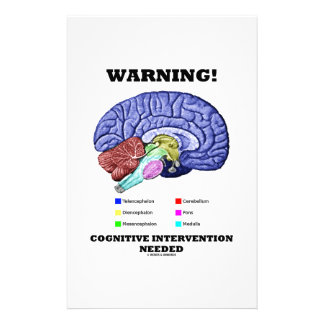 Warning! Cognitive Intervention Needed Stationery