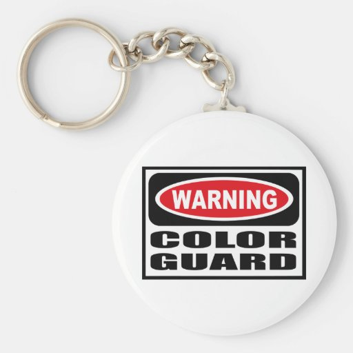 Warning COLOR GUARD Key Chain