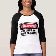 Warning CONTAINS HOT ROD FANATIC Kid's T-Shirt shirt