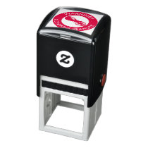 Warning Contains Peanuts Allergen Peanut Symbol Self-inking Stamp