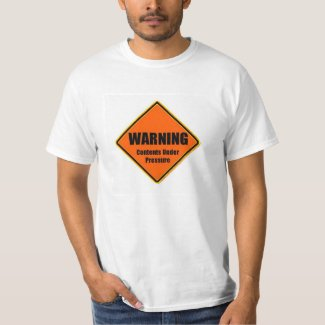 Warning Contents Under Pressure T-Shirt
