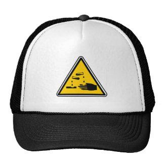 Warning Corrosive Sign Trucker Hat