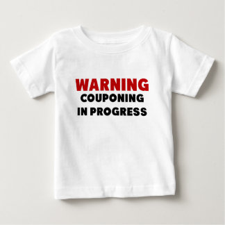 Warning Couponing In Progress.png Baby T-Shirt
