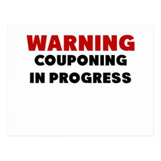 Warning Couponing In Progress.png Postcard