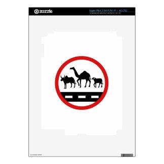 Warning Cows, Camels & Sheep, Sign, Mauritania iPad 3 Decals