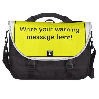 Warning - Create your custom warning label Laptop Messenger Bag
