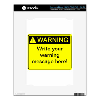 Warning - Create your custom warning label Skin For The NOOK