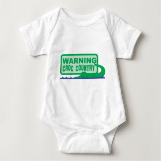 WARNING croc country! crocodile design Baby Bodysuit