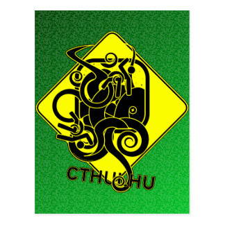Warning: Cthulhu Postcard
