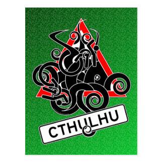 Warning: Cthulhu (UK) Postcard