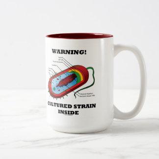 Warning! Cultured Strain Inside (Prokaryote) Two-Tone Coffee Mug
