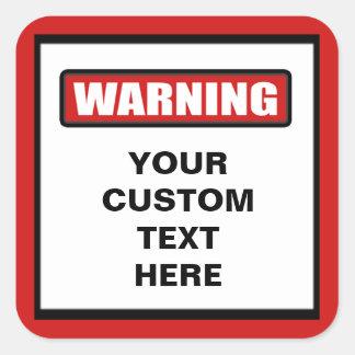 Warning Custom Sticker