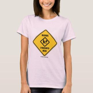 Warning! Cybersurfer Inside (Yellow Diamond Sign) T-Shirt