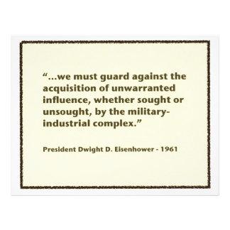 Warning de presidente Eisenhower en 1961 Flyer Personalizado