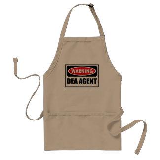 Warning DEA AGENT Apron