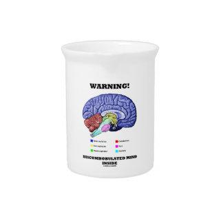 Warning! Discombobulated Mind Inside (Brain Humor) Pitchers