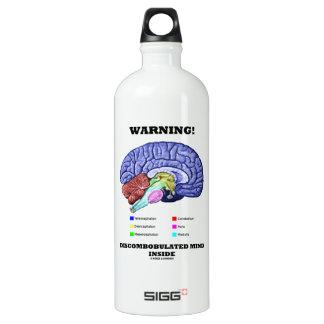 Warning! Discombobulated Mind Inside (Brain Humor) SIGG Traveler 1.0L Water Bottle