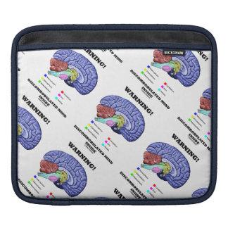 Warning! Discombobulated Mind Inside (Brain Humor) Sleeve For iPads